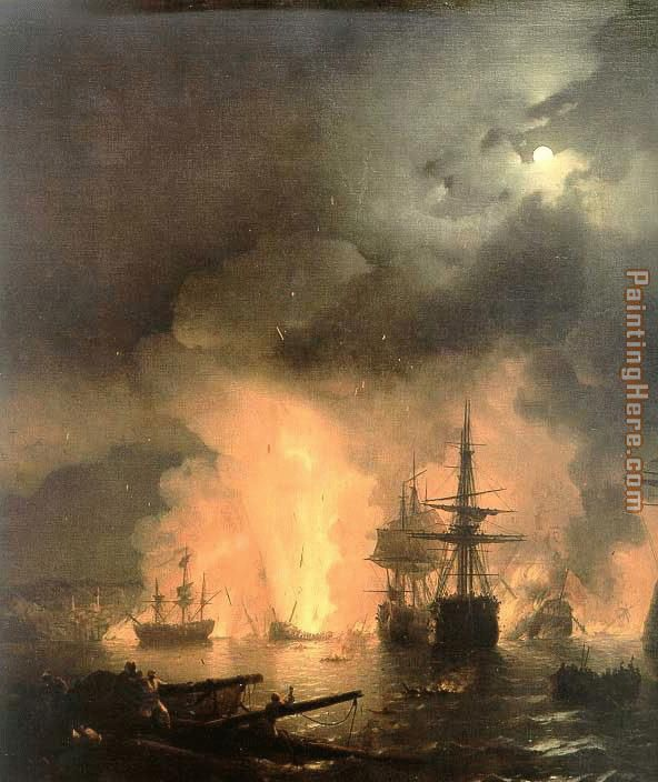 Battle of Chesma painting - Ivan Constantinovich Aivazovsky Battle of Chesma art painting