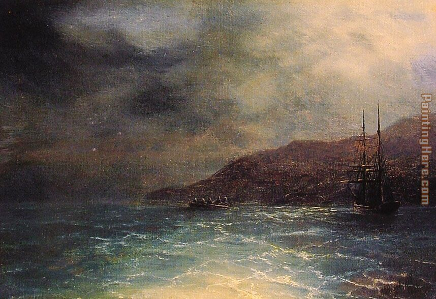 Ivan Constantinovich Aivazovsky Nocturnal Voyage Art Painting