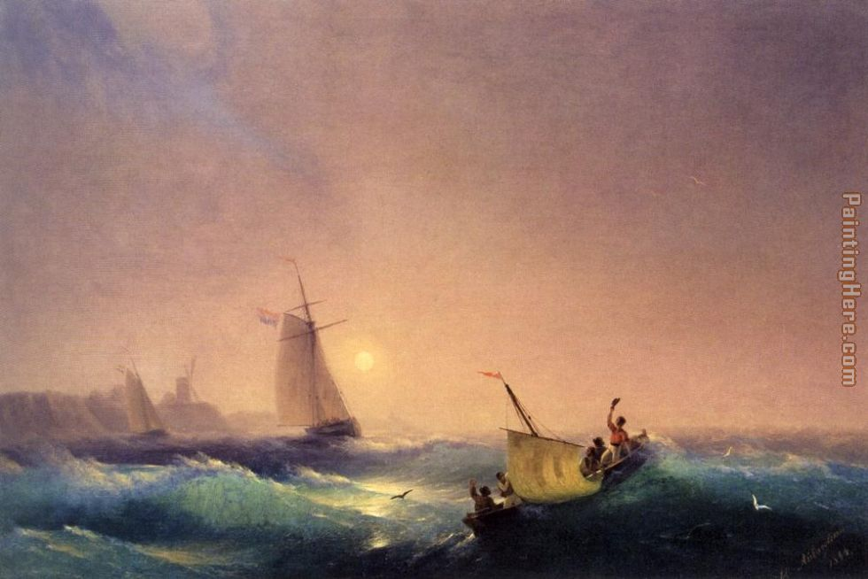 Ivan Constantinovich Aivazovsky Shipping off The Dutch Coast Art Painting