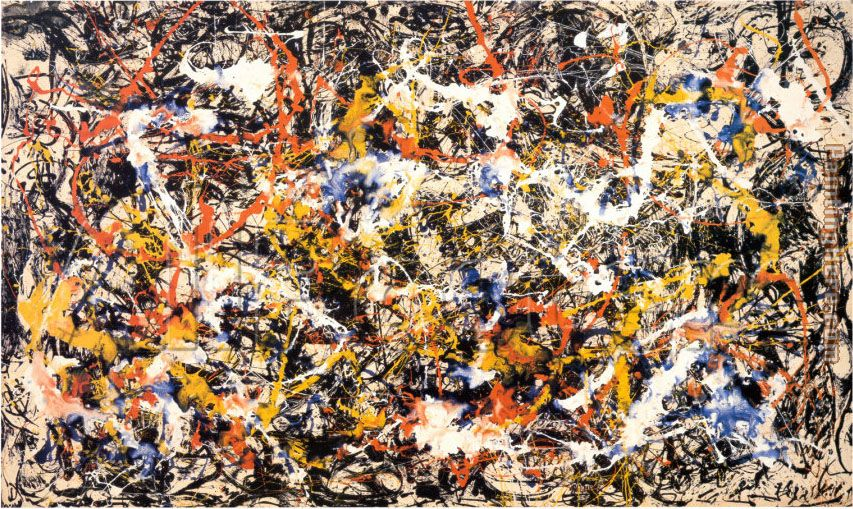 Convergence painting - Jackson Pollock Convergence art painting