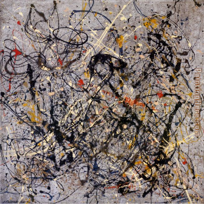 Number 18, 1950 painting - Jackson Pollock Number 18, 1950 art painting