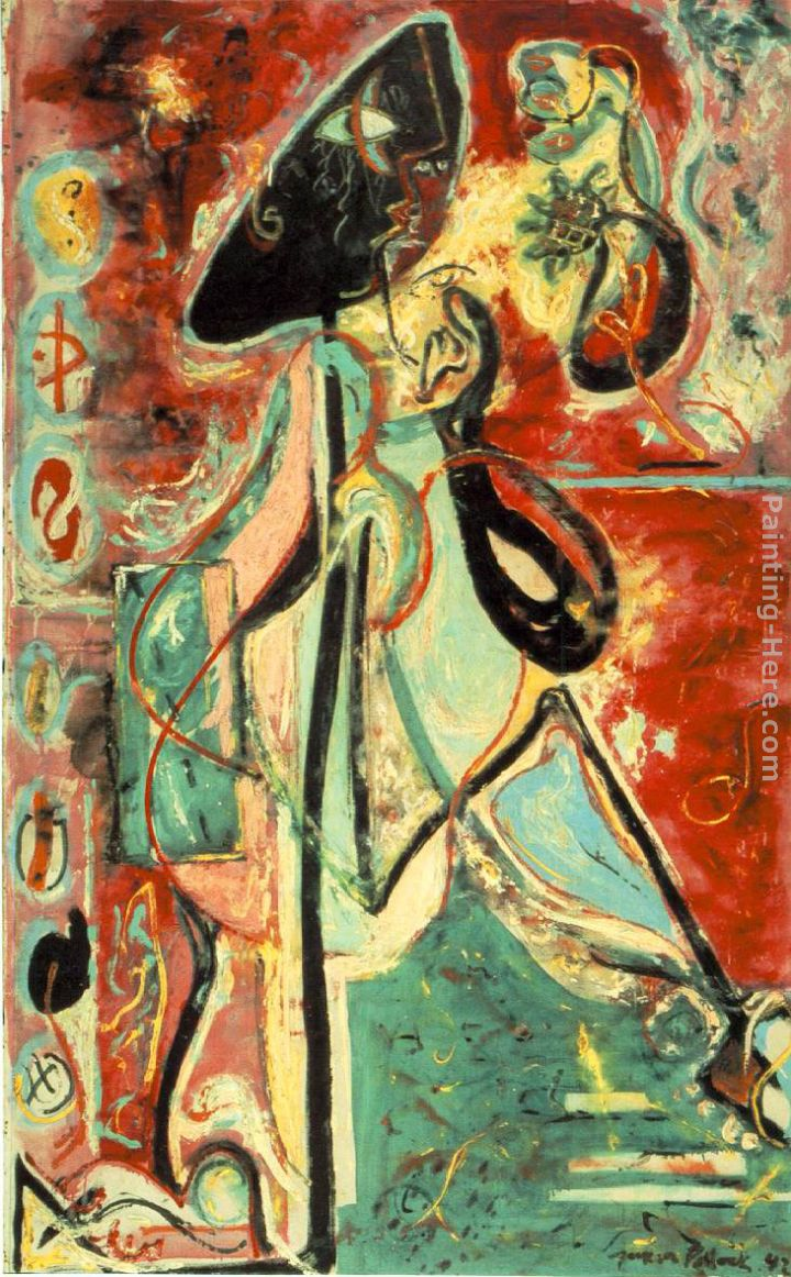 The Moon Woman painting - Jackson Pollock The Moon Woman art painting
