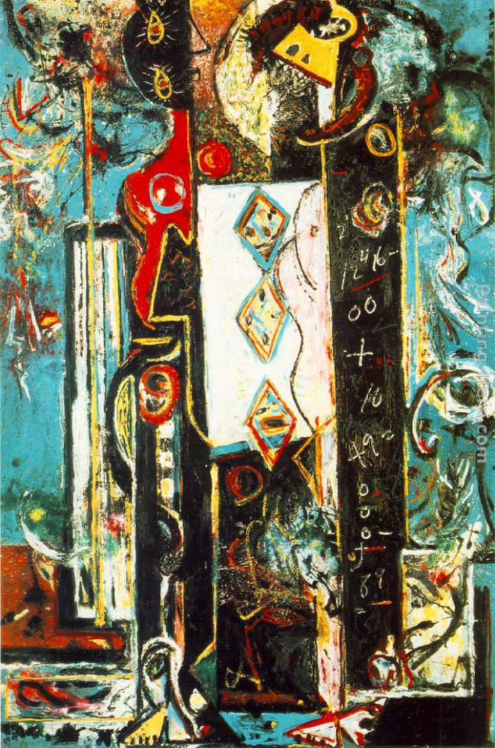 male female painting - Jackson Pollock male female art painting