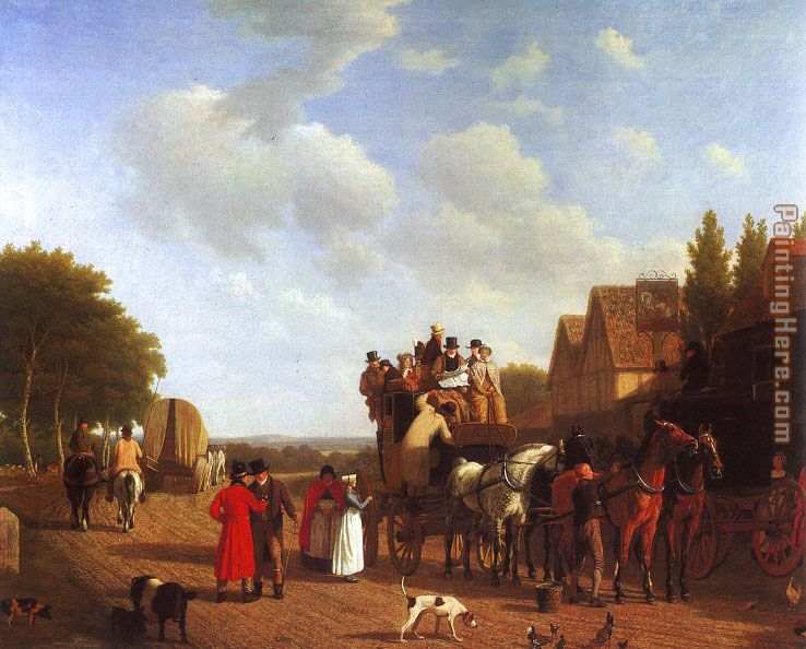 Jacques Laurent Agasse The Last Stage on the Portsmouth Road Art Painting
