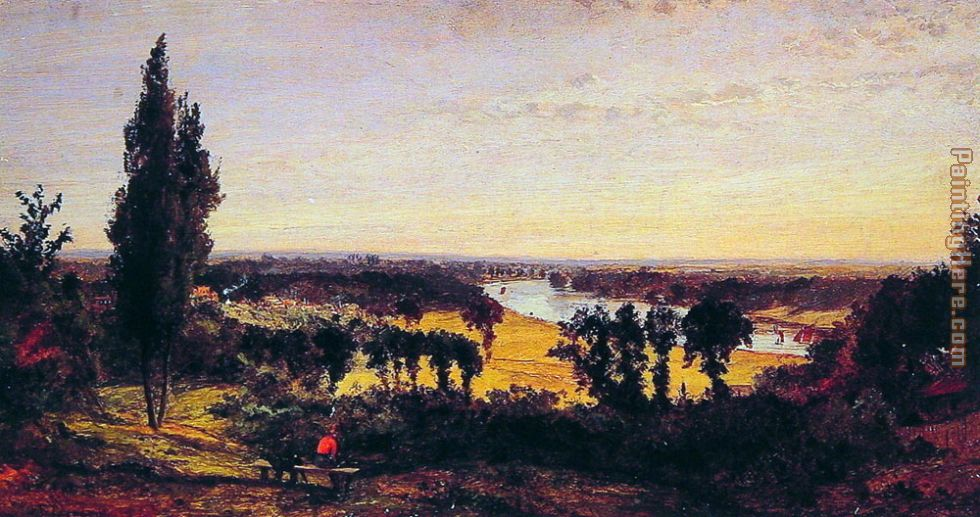Jasper Francis Cropsey Richmond Hill and the Thames, London Art Painting