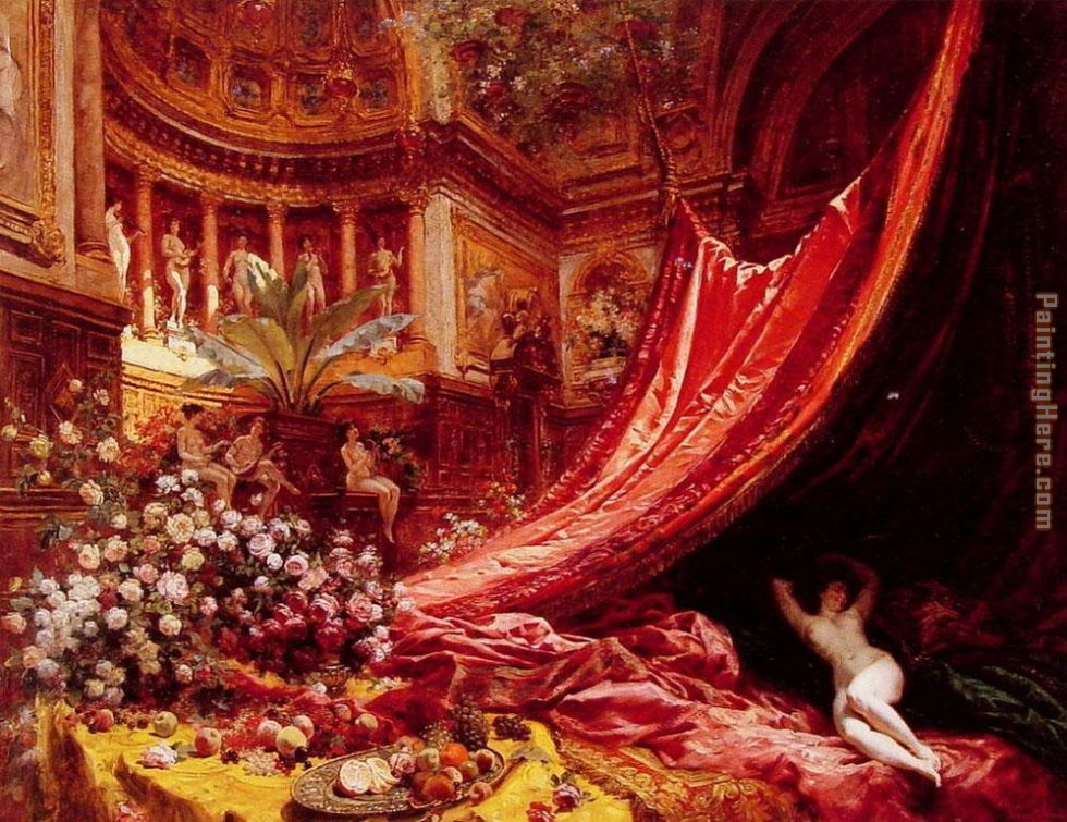Symphony in Red and Gold painting - Jean Beraud Symphony in Red and Gold art painting