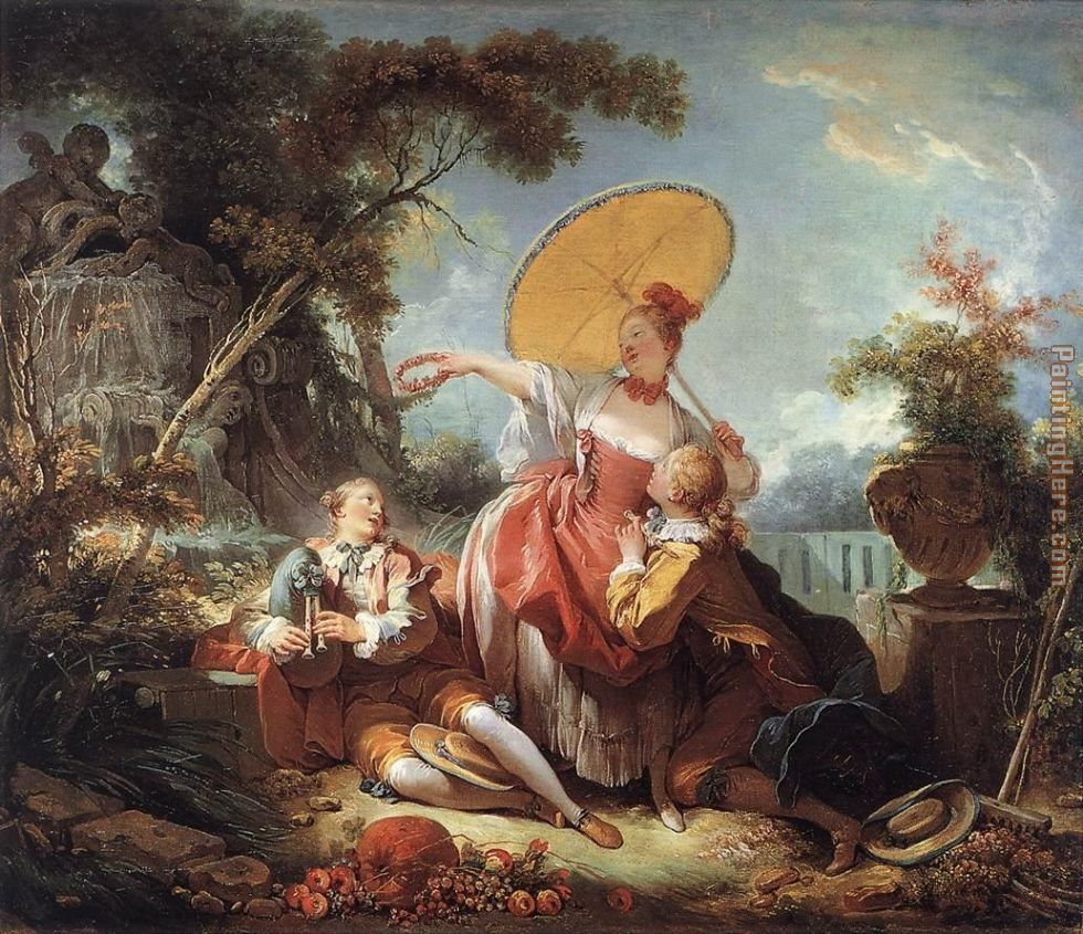 The Musical Contest painting - Jean Fragonard The Musical Contest art painting