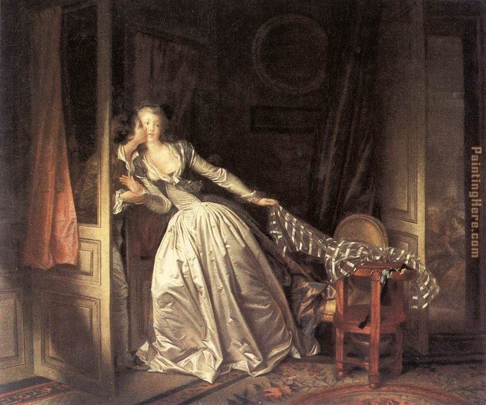 The Stolen Kiss painting - Jean Fragonard The Stolen Kiss art painting