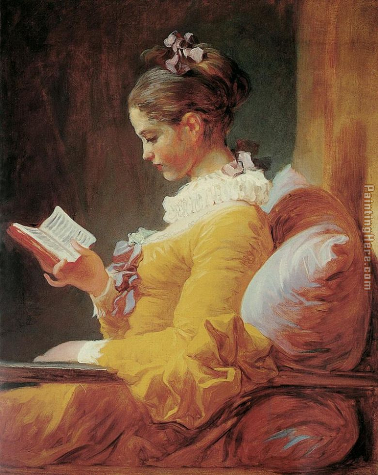 Young Girl Reading painting - Jean Fragonard Young Girl Reading art painting