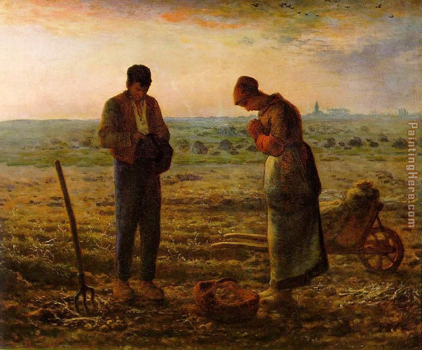 The Angelus painting - Jean Francois Millet The Angelus art painting