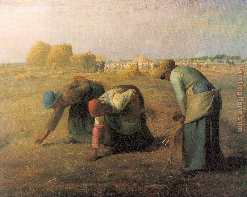Jean Francois Millet The Gleaners Art Painting