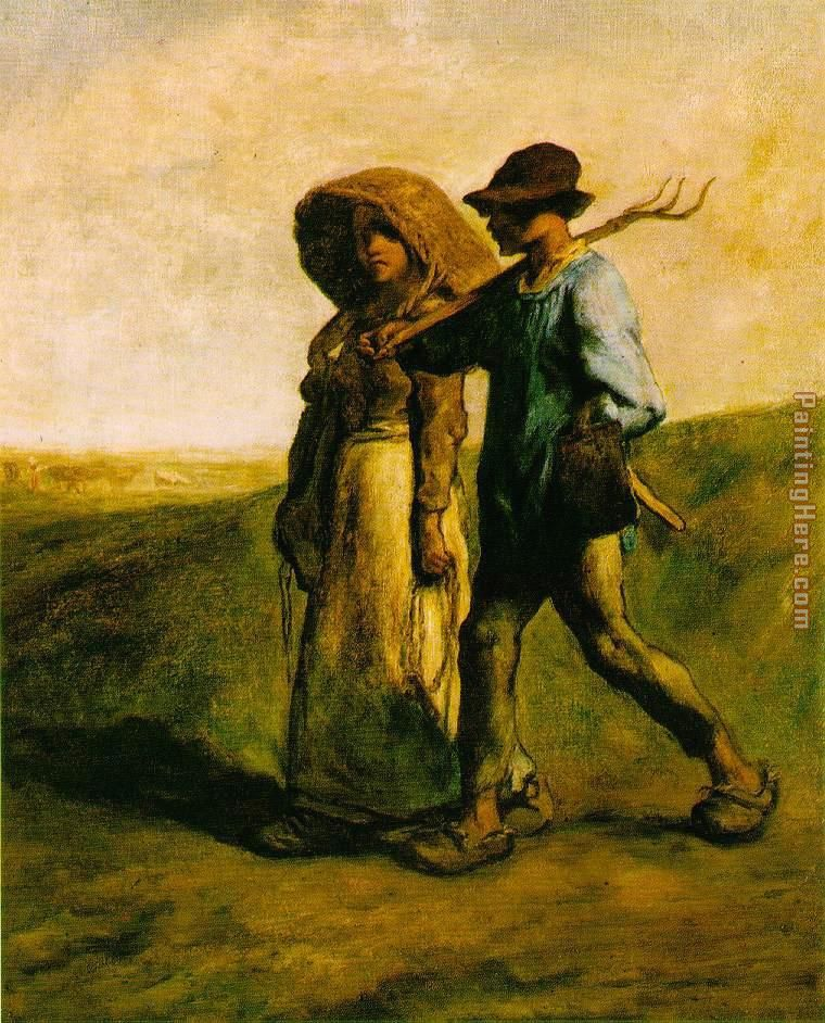 The Walk to Work painting - Jean Francois Millet The Walk to Work art painting