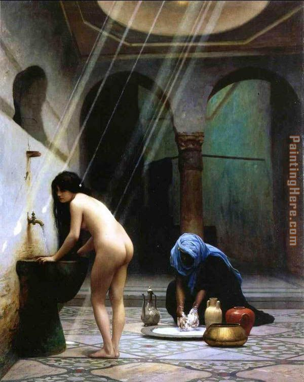 A Moorish Bath Turkish Woman Bathing No 2 Painting