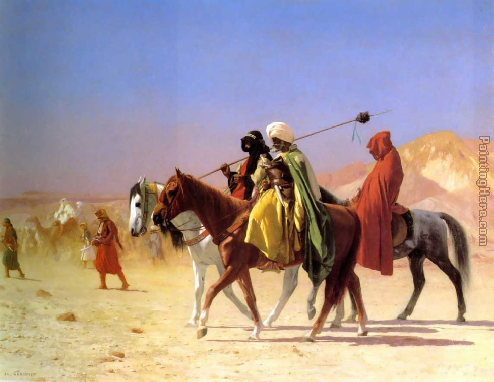 Arabs Crossing the Desert painting - Jean-Leon Gerome Arabs Crossing the Desert art painting