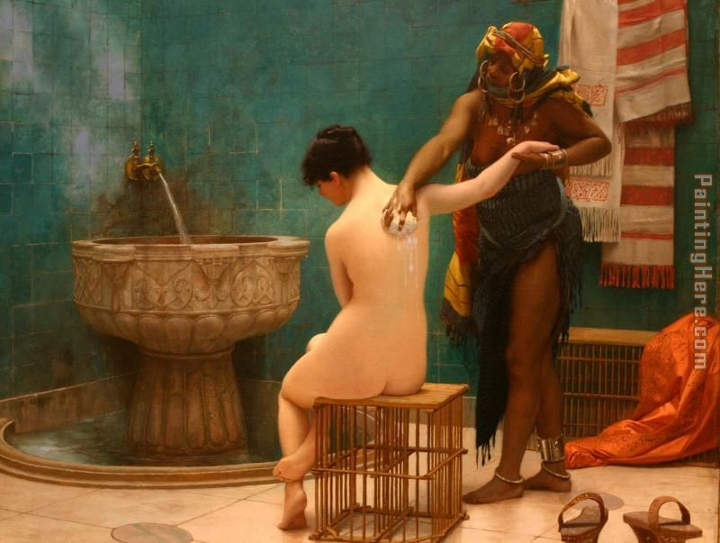 Bath painting - Jean-Leon Gerome Bath art painting