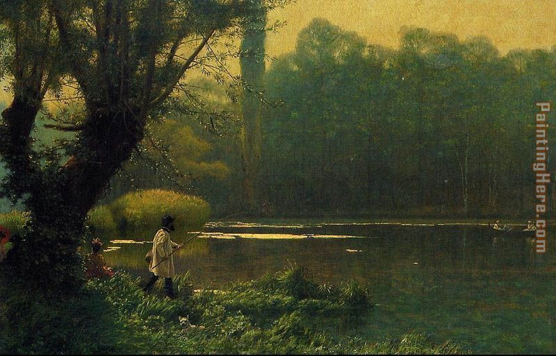 Summer Afternoon on a Lake painting - Jean-Leon Gerome Summer Afternoon on a Lake art painting