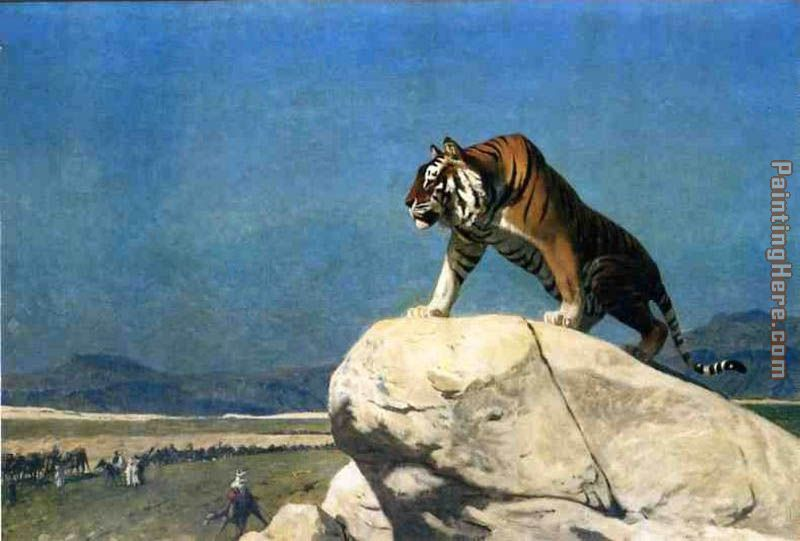 Tiger On The Watch Ii painting - Jean-Leon Gerome Tiger On The Watch Ii art painting