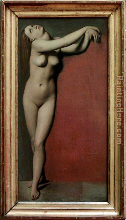 Angelica Nude painting - Jean Auguste Dominique Ingres Angelica Nude art painting