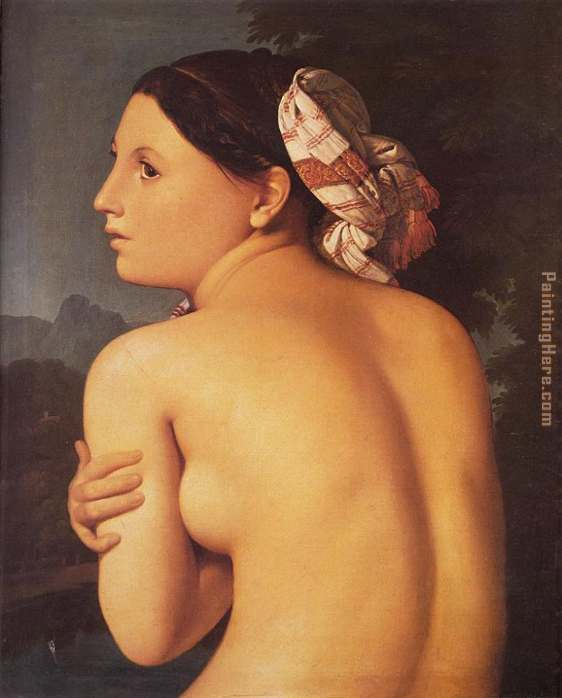 Jean Auguste Dominique Ingres Half-figure of a Bather Art Painting