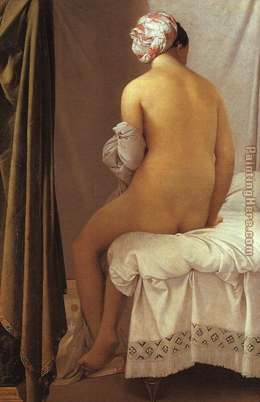 La Grande baigneuse painting - Jean Auguste Dominique Ingres La Grande baigneuse art painting