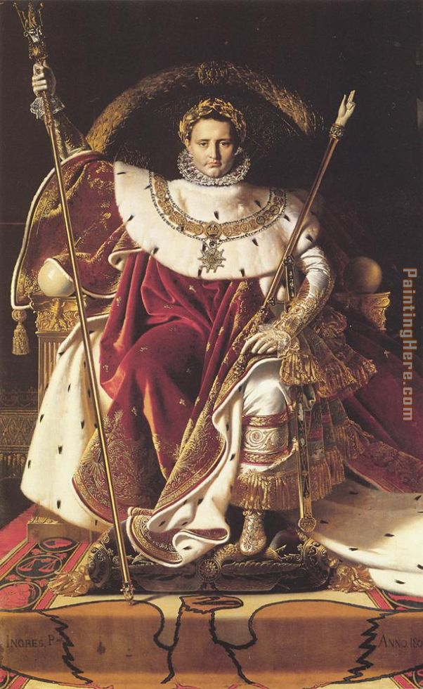 Jean Auguste Dominique Ingres Napoleon I on His Imperial Throne Art Painting
