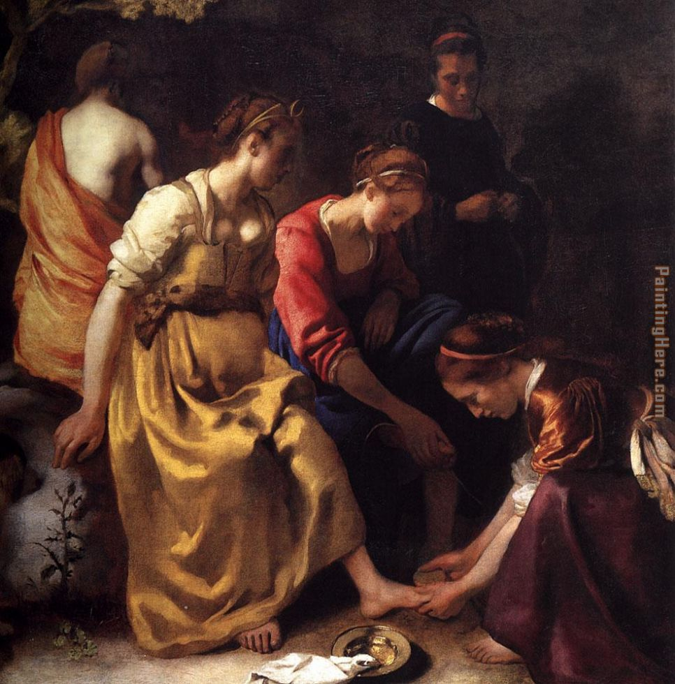 Diana and her Companions painting - Johannes Vermeer Diana and her Companions art painting
