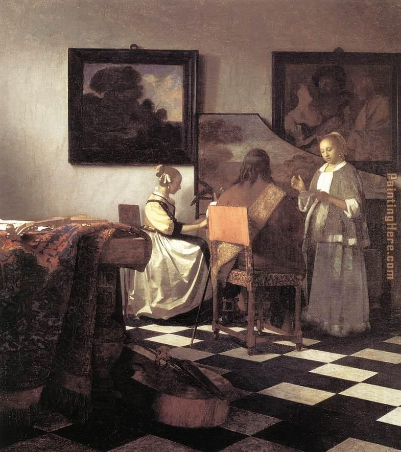 The Concert painting - Johannes Vermeer The Concert art painting