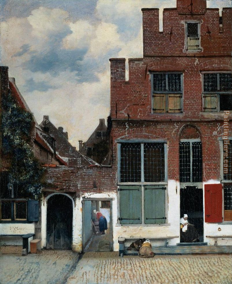 Johannes Vermeer The Little Street Art Painting
