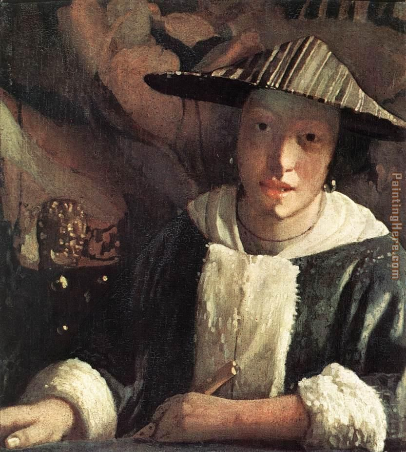 Johannes Vermeer Young Girl with a Flute Art Painting