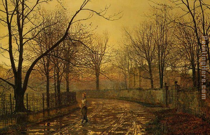 John Atkinson Grimshaw Sixty Years Ago Painting anysize 50% off
