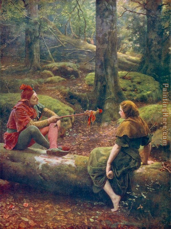 In the Forest of Arden painting - John Collier In the Forest of Arden art painting