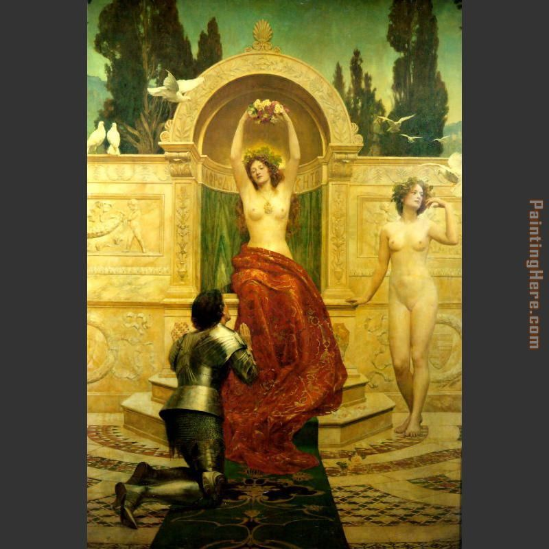 In the Venusberg Tannhauser painting - John Collier In the Venusberg Tannhauser art painting