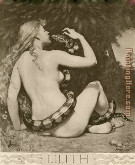 Lilith 2 painting - John Collier Lilith 2 art painting