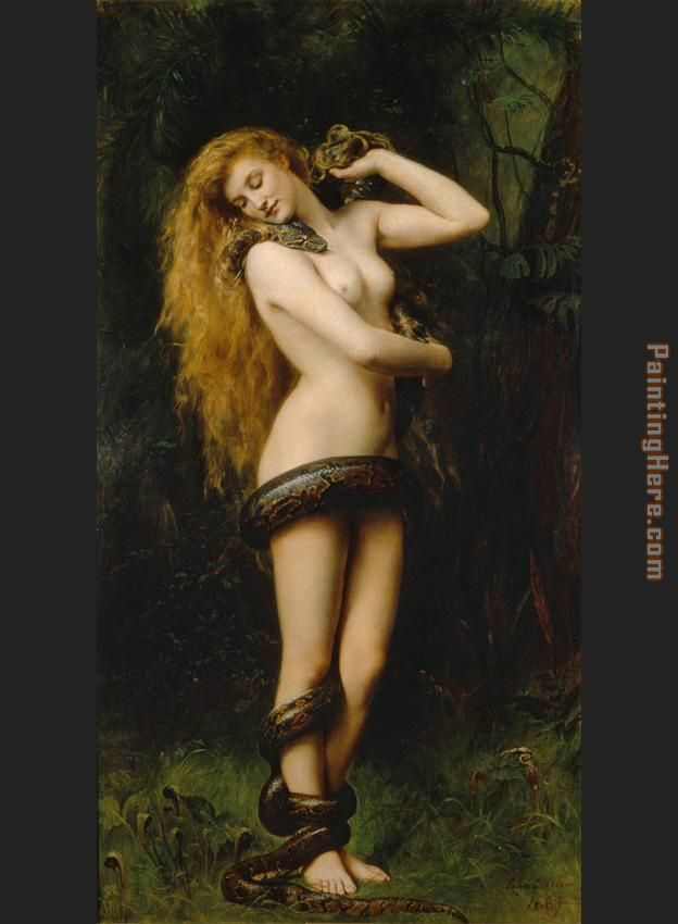 Lilith painting - John Collier Lilith art painting
