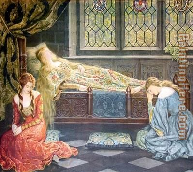 John Collier Sleeping Beauty Art Painting