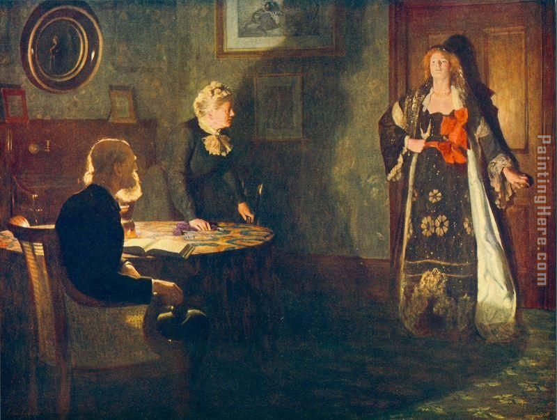 The Prodigal Daughter painting - John Collier The Prodigal Daughter art painting