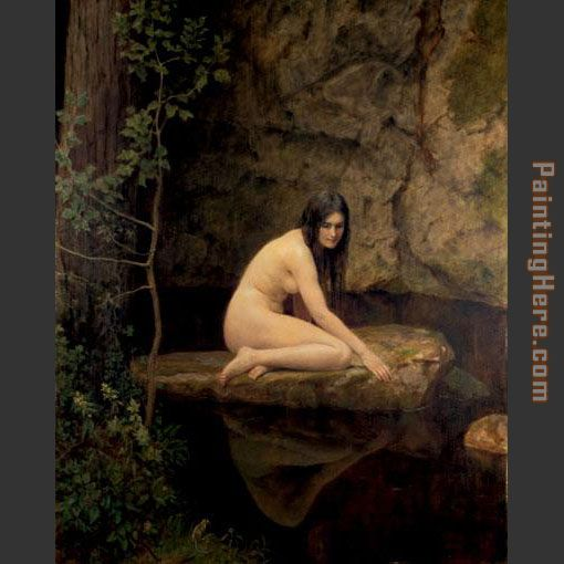 The Water Nymph painting - John Collier The Water Nymph art painting