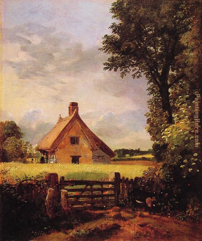 John Constable A Cottage in a Cornfield Art Painting