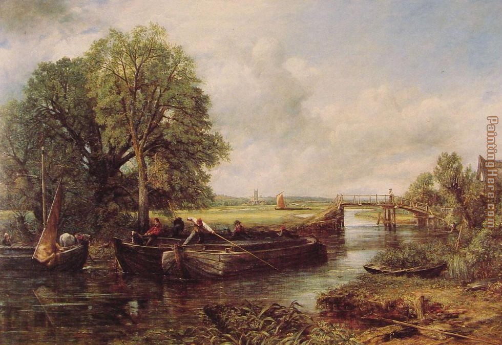 A View on the Stour near Dedham painting - John Constable A View on the Stour near Dedham art painting