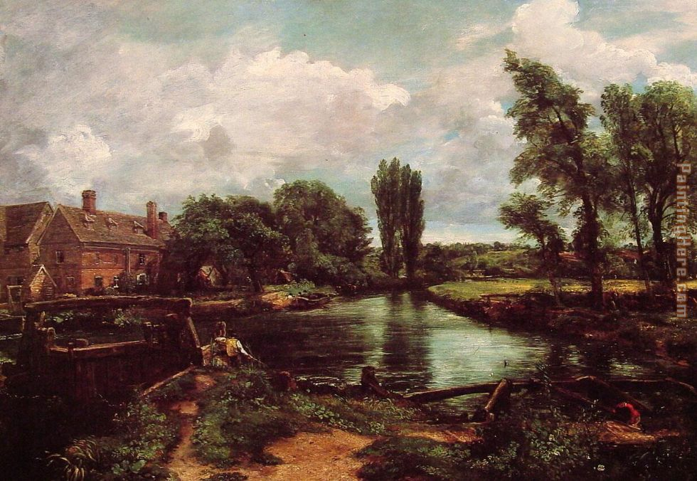 John Constable A Water-Mill Art Painting