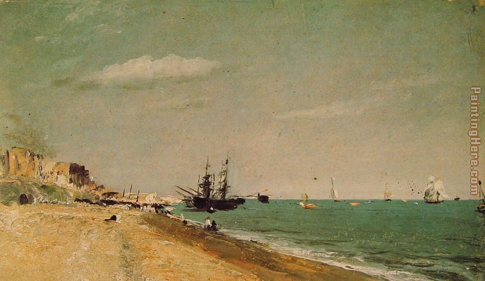 Brighton Beach with Colliers painting - John Constable Brighton Beach with Colliers art painting