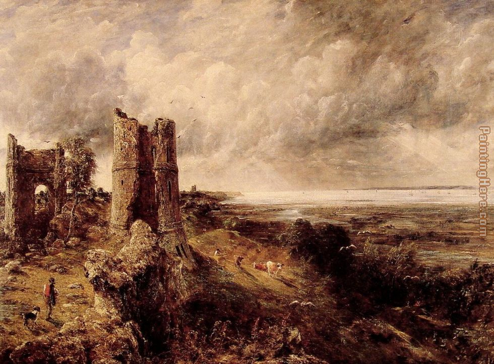 Hadleigh Castle painting - John Constable Hadleigh Castle art painting