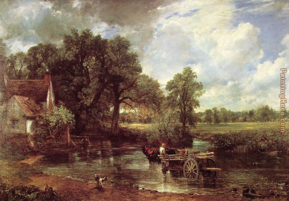The Hay Wain painting - John Constable The Hay Wain art painting