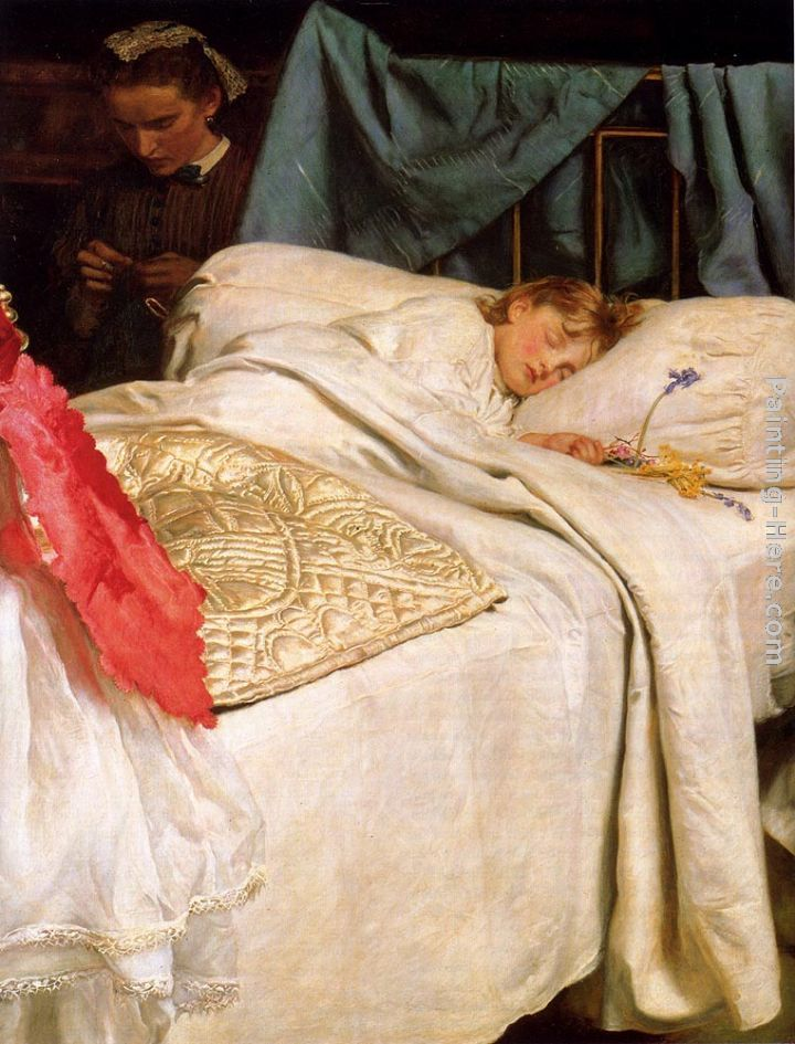 John Everett Millais Sleeping Art Painting