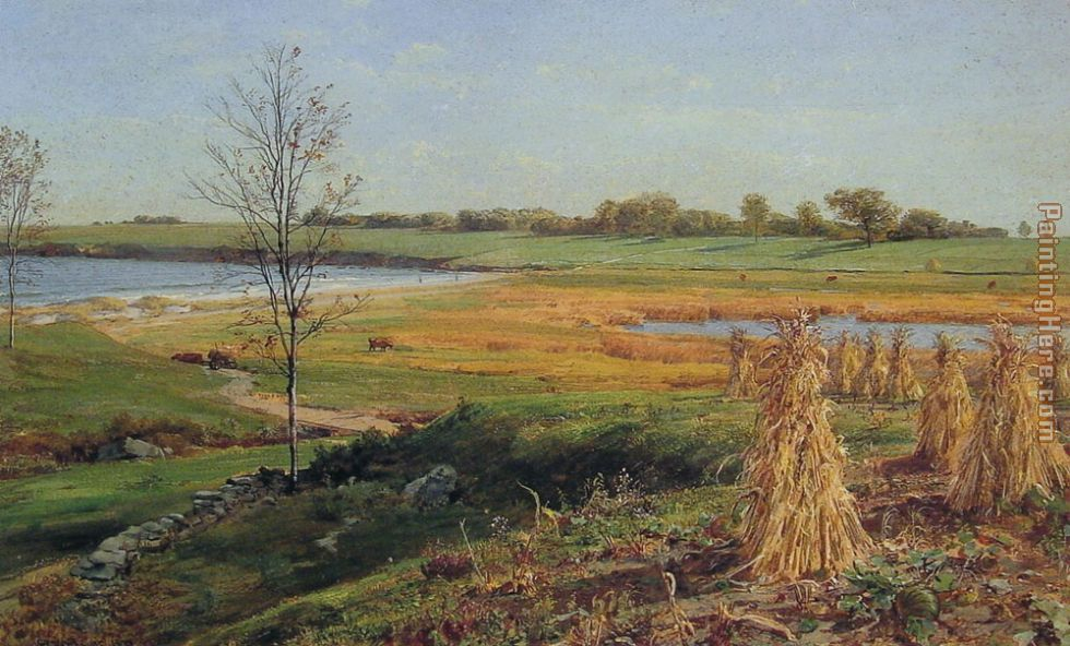 Connecticut Shoreline in Autumn painting - John Frederick Kensett Connecticut Shoreline in Autumn art painting