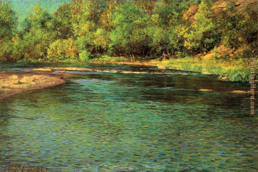 Iredescence of a Shallow Stream painting - John Ottis Adams Iredescence of a Shallow Stream art painting