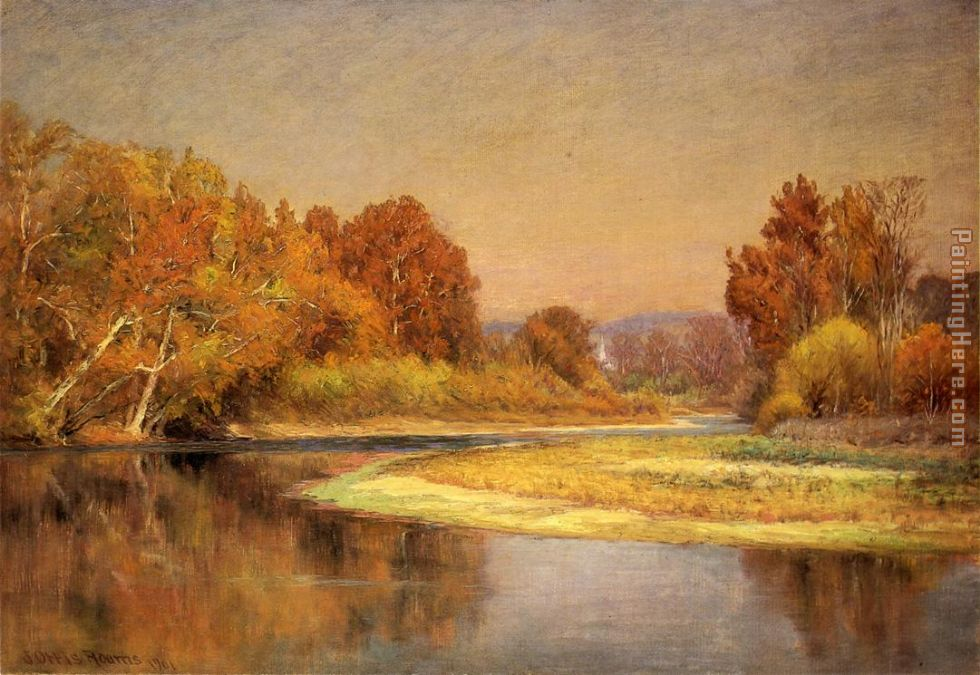 John Ottis Adams Sycamores on the Whitewater Art Painting