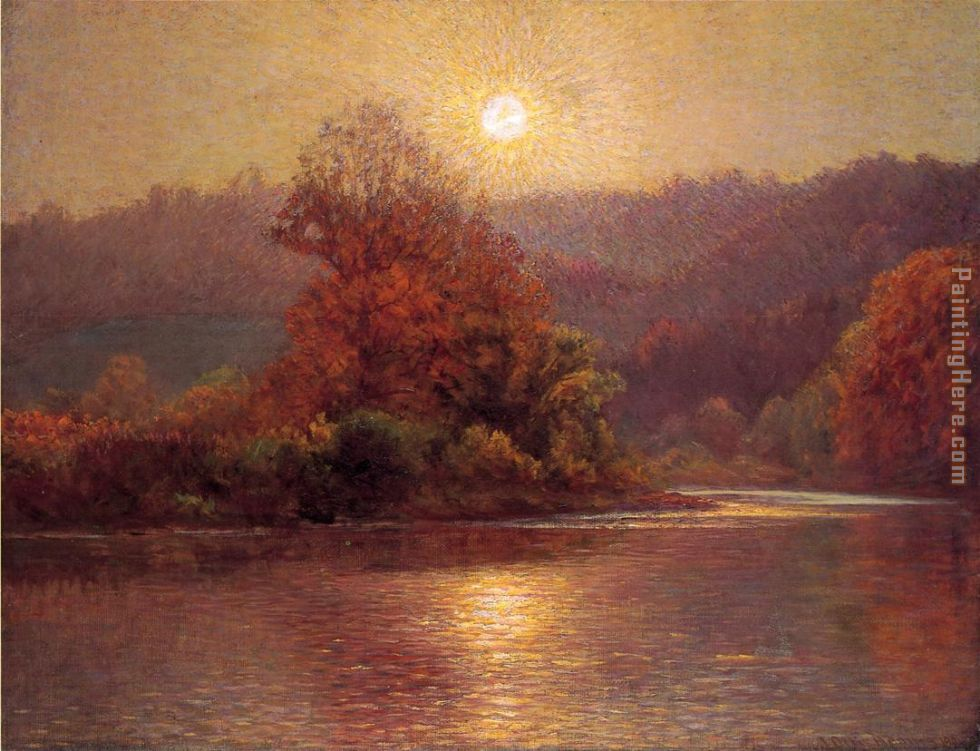 The Closing of an Autumn Day painting - John Ottis Adams The Closing of an Autumn Day art painting