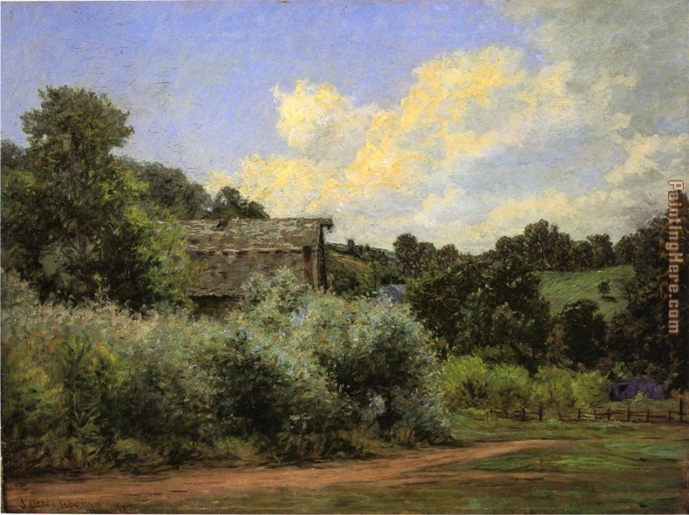 The Grist Mill painting - John Ottis Adams The Grist Mill art painting