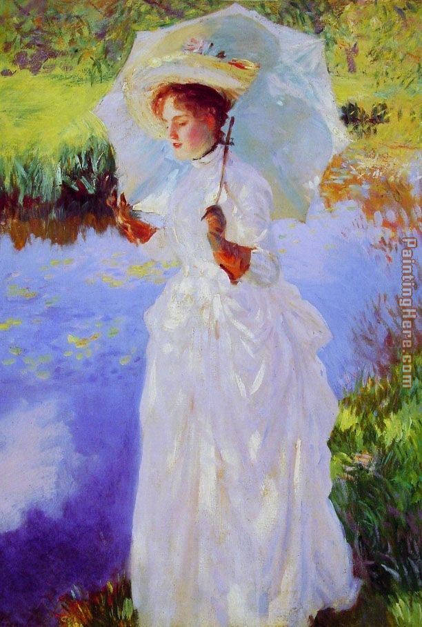 A Morning Walk lady painting - John Singer Sargent A Morning Walk lady art painting